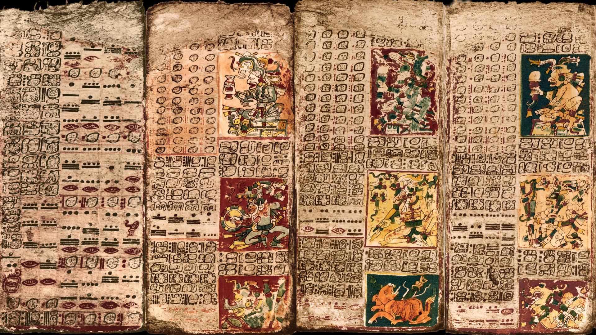 codice dresde venus mayas calendario 2 - Los Mayas